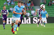 MELBOURNE, VIC - JANUARY 19: Melbourne City defender Curtis Good (22) runs for the ball downfield at the Hyundai A-League Round 14 soccer match between Melbourne City FC and Perth Glory at AAMI Park in VIC, Australia 19th January 2019. Image by (Speed Media/Icon Sportswire)