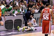 DESCRIZIONE : Campionato 2013/14 Finale Gara 7 Olimpia EA7 Emporio Armani Milano - Montepaschi Mens Sana Siena Scudetto<br /> GIOCATORE : Marco Crespi Matt Janning<br /> CATEGORIA : Esultanza Fairplay Curiosita<br /> SQUADRA : Montepaschi Siena<br /> EVENTO : LegaBasket Serie A Beko Playoff 2013/2014<br /> GARA : Olimpia EA7 Emporio Armani Milano - Montepaschi Mens Sana Siena<br /> DATA : 27/06/2014<br /> SPORT : Pallacanestro <br /> AUTORE : Agenzia Ciamillo-Castoria /GiulioCiamillo<br /> Galleria : LegaBasket Serie A Beko Playoff 2013/2014<br /> FOTONOTIZIA : Campionato 2013/14 Finale GARA 7 Olimpia EA7 Emporio Armani Milano - Montepaschi Mens Sana Siena<br /> Predefinita :