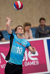 20-01-2019 NED: Talent Team Papendal - Achterhoek Orion, Ede<br /> Round 14 of Eredivisie volleyball. Orion win 3-01 of Talent Team / Jesper van Muijden #10 of Talent Team