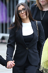 © Licensed to London News Pictures . 18/03/2016 . Manchester , UK . Kym Marsh arrives at the service. Television stars and members of the public attend the funeral of Coronation Street creator Tony Warren at Manchester Cathedral . Photo credit : Joel Goodman/LNP