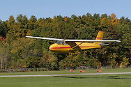 Middletown, N.Y. - A glider being towed by a plane takes off at Randall Airport on Oct. 8, 2006. ©Tom Bushey