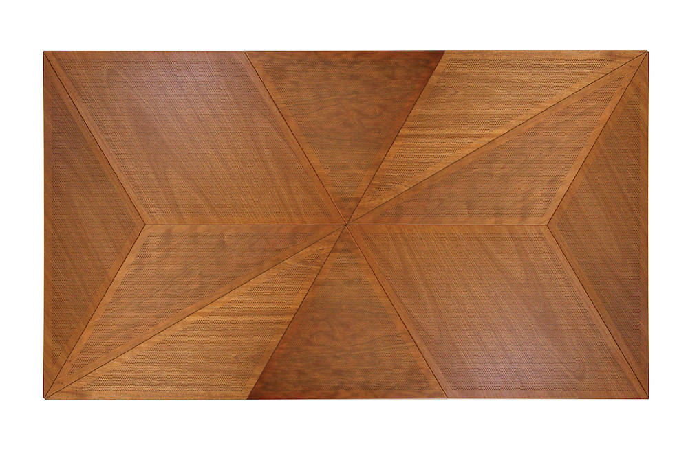 Tessellations(r) panels from Ceilings Plus can be fabricated in almost any polygonal shapes. These panels are finished with Arboreal(r) real wood veneers and micro-perforated for acoustics.