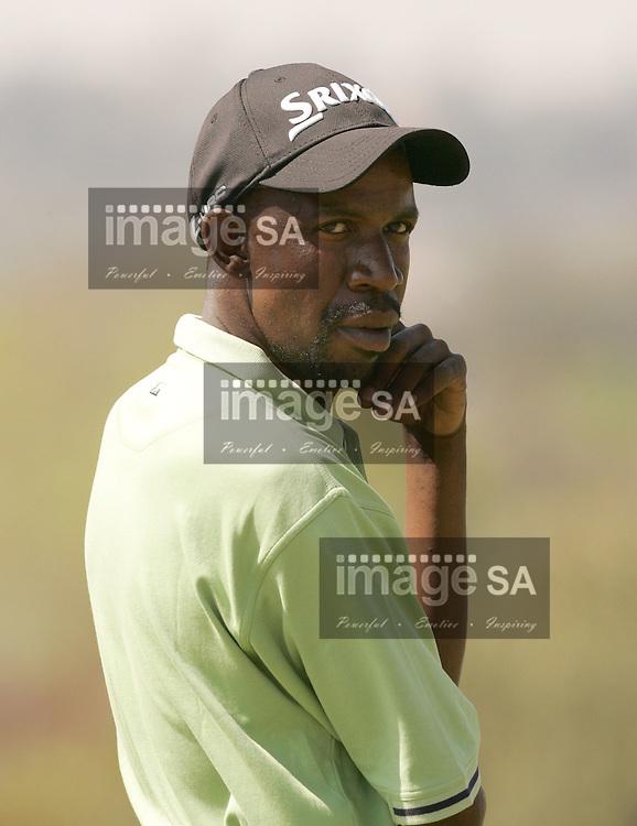 Seekers Travel Golf| Lindani Ndwandwe| Final round of the Seekers Travel Pro-Am at Dainfern Country Club- Johannesburg-  Lindani Ndwandwe drops a shot