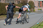 BELGIUM  / BELGIE / BELGIQUE / HARELBEKE / CYCLING / WIELRENNEN / CYCLISME / KLASSIEKER / 59TH RECORD BANK E3 HARELBEKE / UCI WORLD TOUR / UCI WORLDTOUR /  HARELBEKE TO HARELBEKE 206 KM / CANCELLARA FABIAN (TREK SEGAFREDO) / TECHNICAL PROBLEMS / MATERIAALPECH /