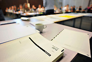 Nederland, Ubbergen, 15-5-2012Eindexamen Nederlands HAVO. Leerlingen, kandidaten, betreden de gymzaal waar het centraal schriftelijk examen, cse, wordt afgenomen.Foto: Flip Franssen/Hollandse Hoogte