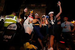 UK ENGLAND LONDON 8SEP16 - Company party at the Embankment in central London. People: Popeye Leonardo from Italy (33), Penguin; Hayden Green (27) and Linda Moll (34) from Berlin.<br /> <br /> <br /> jre/Photo by Jiri Rezac<br /> <br /> © Jiri Rezac 2016