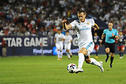 CHICAGO, IL - AUGUST 02: Real Madrid forward Gareth Bale (11) controls the ball in the second half during a soccer match between the MLS All-Stars and Real Madrid on August 2, 2017, at Soldier Field, in Chicago, IL. The game ended in a 1-1 tie with Real Madrid winning on penalty kicks 4-2. (Photo by Patrick Gorski/Icon Sportswire)