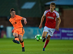 LEYLAND, ENGLAND - Friday, September 1, 2017: Liverpool's Liam Coyle during the Lancashire Senior Cup Final match between Fleetwood Town and Liverpool Under-23's at the County Ground. (Pic by Propaganda)