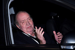 King Juan Carlos of Spain leaving the San Jose clinic where he underwent hip surgery, Madrid, Spain, December 2, 2012. Photo by Ivan L. Naughty / DyD Fotografos / i-Images...SPAIN OUT