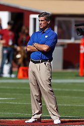 SAN FRANCISCO, CA - OCTOBER 14: Special teams coordinator Tom Quinn of the New York Giants on the field before the game against the San Francisco 49ers at Candlestick Park on October 14, 2012 in San Francisco, California. The New York Giants defeated the San Francisco 49ers 26-3. Photo by Jason O. Watson/Getty Images) *** Local Caption *** Tom Quinn