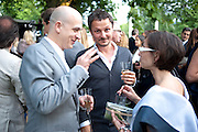 STEVE LAZARIDES; JONATHAN YEO, 2009 Serpentine Gallery Summer party. Sponsored by Canvas TV. Serpentine Gallery Pavilion designed by Kazuyo Sejima and Ryue Nishizawa of SANAA. Kensington Gdns. London. 9 July 2009.
