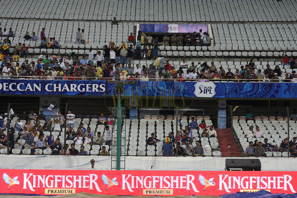 Branding advertising boards during match 68 of the the Indian Premier League ( IPL) 2012  between The Deccan Chargers and the Rajasthan Royals held at the Rajiv Gandhi Cricket Stadium, Hyderabad on the 18th May 2012..Photo by Jacques Rossouw/IPL/SPORTZPICS