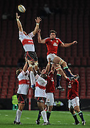 Lock of the British & Irish Lions, Nathan Hines competes for the ball in the line out.<br /> Rugby - 090602 - British&Irish Lions v Xerox Lions - Coca-Cola Park - Johannesburg - South Africa.<br /> Photographer : Anton de Villiers / SASPA