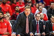 LUBBOCK, TX - JANUARY 13: Head coach Chris Beard of the Texas Tech Red Raiders watches play during the game between the Texas Tech Red Raiders and the West Virginia Mountaineers on January 13, 2018 at United Supermarket Arena in Lubbock, Texas. Texas Tech defeated West Virginia 72-71. (Photo by John Weast/Getty Images) *** Local Caption *** Chris Beard