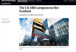The Sunday Times; Strathclyde University Business School