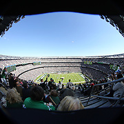 A fisheye view of MetLife Stadium during the New York Jets V New England Patriots NFL regular season game at MetLife Stadium, East Rutherford, NJ, USA. 20th October 2013. Photo Tim Clayton