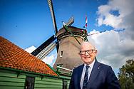 ASSENDELFT - Pieter van Vollenhoven during the opening of the restored mill barn and rebuilt De Paauw mill. copyright robin utrecht