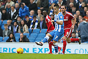 Brighton central midfielder, Beram Kayal (7) during the Sky Bet Championship match between Brighton and Hove Albion and Middlesbrough at the American Express Community Stadium, Brighton and Hove, England on 19 December 2015. Photo by Phil Duncan.