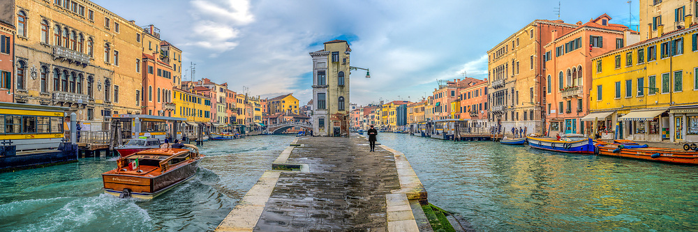 Cannaregio Canal and Fondamenta. Composite of two images from different points of view.