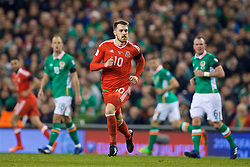 DUBLIN, REPUBLIC OF IRELAND - Friday, March 24, 2017: Wales' Aaron Ramsey in action against Republic of Ireland during the 2018 FIFA World Cup Qualifying Group D match at the Aviva Stadium. (Pic by David Rawcliffe/Propaganda)