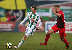 11.02.2018, BSFZ Arena, Maria Enzersdorf, AUT, 1. FBL, FC Flyeralarm Admira vs SK Rapid Wien, 22. Runde, im Bild Philipp Schobesberger (SK Rapid Wien) und Jonathan Scherzer (FC Flyeralarm Admira) // during Austrian Bundesliga Football 22nd round match between FC Flyeralarm Admira vs SK Rapid Wien at the BSFZ Arena, Maria Enzersdorf, Austria on 2018/02/11. EXPA Pictures © 2018, PhotoCredit: EXPA/ Thomas Haumer