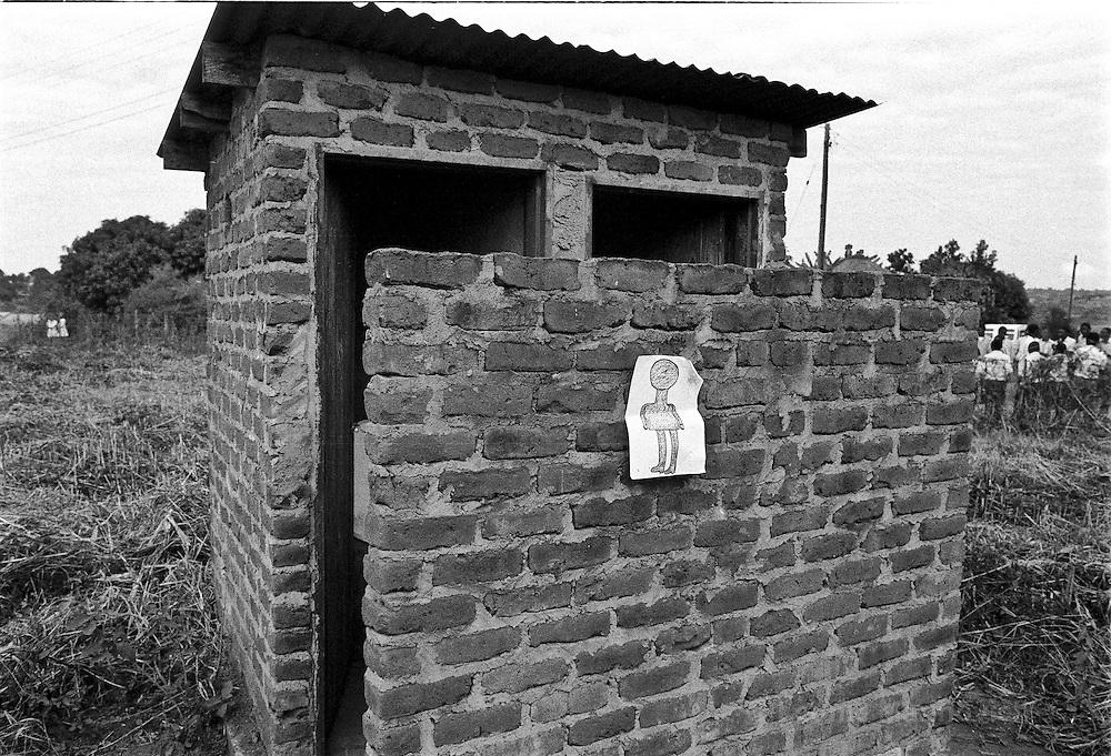 IPLM0015 , South Africa, Venda, June 2001. Ablution block near public arena in small village.