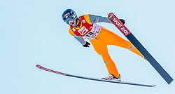 29.01.2017, Casino Arena, Seefeld, AUT, FIS Weltcup Nordische Kombination, Seefeld Triple, Skisprung, im Bild Bryan Fletcher (USA) // Bryan Fletcher of the USA in action during his Competition Jump of Skijumping of the FIS Nordic Combined World Cup Seefeld Triple at the Casino Arena in Seefeld, Austria on 2017/01/29. EXPA Pictures © 2017, PhotoCredit: EXPA/ JFK