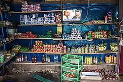 A local business provides canned food, toilet paper, pasta and other products that are imported from other parts of the country.