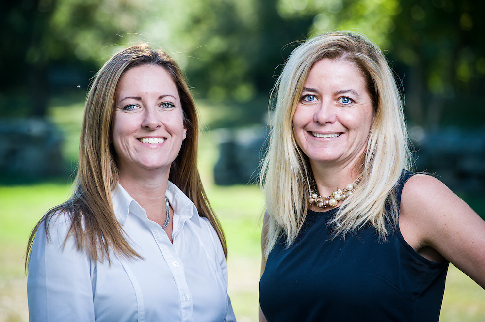Founding partners, Jonalyn Sullivan and Laura Gannon near their office in Chelmsford, MA.