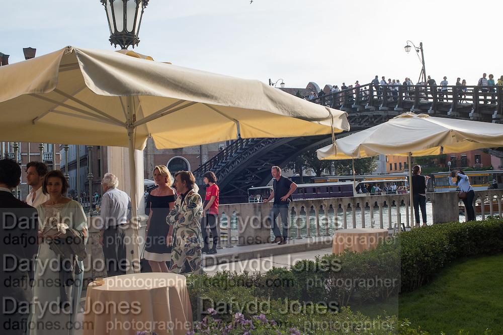 Glasstress opening. Accademia Bridge. Venice Biennale, Venice. 8 May 2015