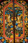 Carved wooden doors, Bali, Indonesia