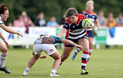 Sasha Acheson of Bristol Ladies runs through a tackle - Mandatory by-line: Robbie Stephenson/JMP - 18/09/2016 - RUGBY - Cleve RFC - Bristol, England - Bristol Ladies Rugby v Aylesford Bulls Ladies - RFU Women's Premiership