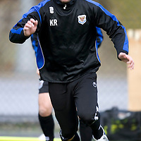 St Johnstone's Kevin Rutkiewicz pictured during training ahead of the Scottish Cup tie against Rangers<br /> see story by Gordon Bannerman....Tel: 07729 865788<br /> Picture by Graeme Hart.<br /> Copyright Perthshire Picture Agency<br /> Tel: 01738 623350  Mobile: 07990 594431