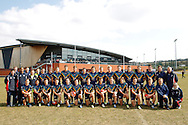 The AIS AFL Academy squad from the European Legion v AIS AFL Academy match during the AFL Europe Easter Series at Surrey Sports Park, Guildford, UK on 6th April 2013. Final score was 18-104. Photo by Andrew Tobin/Tobinators Ltd.