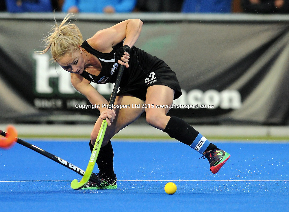 New Zealand Black Stick Anita Punt controls the ball in the Festival of Hockey, New Zealand Womens Black Sticks v Korea, Unison Sports Park, Hastings, Saturday, April 118 2015. Photo: Kerry Marshall / photosport.co.nz
