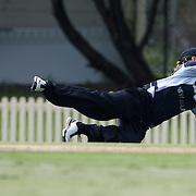 Sophie Devine fielding during the match between England and New Zealand in the Super 6 stage of the ICC Women's World Cup Cricket tournament at Bankstown Oval, Sydney, Australia on March 14 2009, England won the match by 31 runs. Photo Tim Clayton