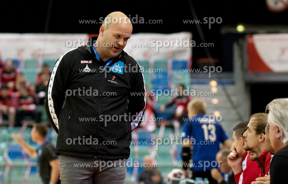 02.11.2016, Arena Nova, Wiener Neustadt, AUT, EHF, Handball EM Qualifikation, Österreich vs Finnland, Gruppe 3, im Bild Patrekur Johannesson (AUT)// during the EHF Handball European Championship 2018, Group 3, Qualifier Match between Austria and Finland at the Arena Nova, Wiener Neustadt, Austria on 2016/11/02. EXPA Pictures © 2016, PhotoCredit: EXPA/ Sebastian Pucher