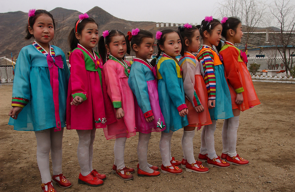 North Korea:<br /> North Hwanghae Province<br /> <br /> Carol Bellamy visits a kindergarten at Yonsan, where music and dancing are performed for her benefit. <br /> <br /> <br /> &copy;Jeremy Horner<br /> 15 Mar 2004