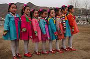 North Korea:<br /> North Hwanghae Province<br /> <br /> Carol Bellamy visits a kindergarten at Yonsan, where music and dancing are performed for her benefit. <br /> <br /> <br /> &copy;Jeremy Horner<br /> 15 Mar 2004