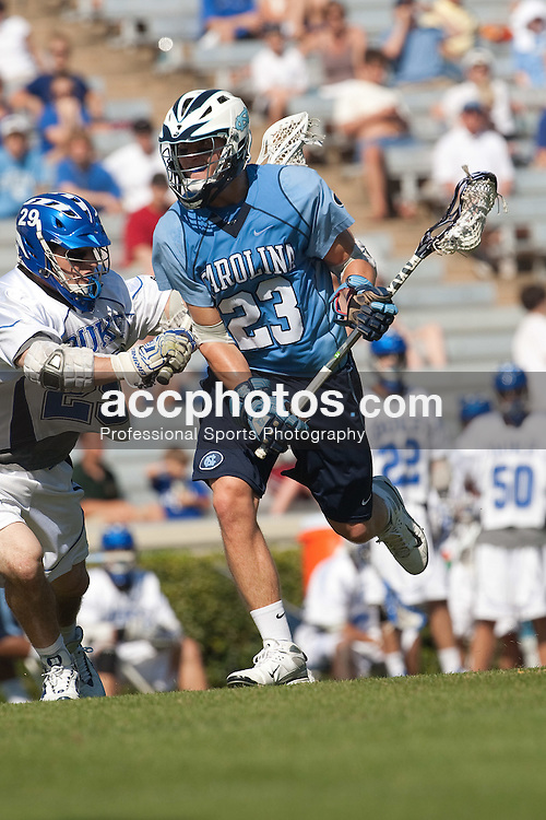 26 April 2009: North Carolina Tar Heels midfielder Sean Delaney (23) during a 15-13 loss to the Duke Blue Devils during the ACC Championship at Kenan Stadium in Chapel Hill, NC.