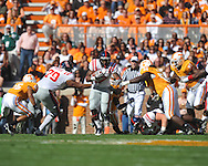 Ole Miss running back Enrique Davis (27) runs in a college football game at Neyland Stadium in Knoxville, Tenn. on Saturday, November 13, 2010. Tennessee won 52-14.