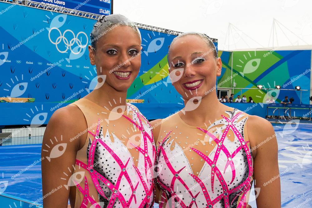 ITA - Italy  <br /> CERRUTI Linda FERRO Costanza<br /> Duets Free<br /> Rio de Janeiro 16-08-2016 Maria Lenk Aquatics Center  <br /> Synchronised Swimming <br /> Nuoto Sincronizzato <br /> Foto Andrea Staccioli / Deepbluemedia /Insidefoto
