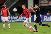(L-R) Teun Koopmeiners of AZ Alkmaar, Michael Liendl of FC Twente