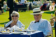 Opera-lovers attend annual Glyndebourne Opera Festival and picnic in the grounds, Glyndebourne, East Sussex, UK