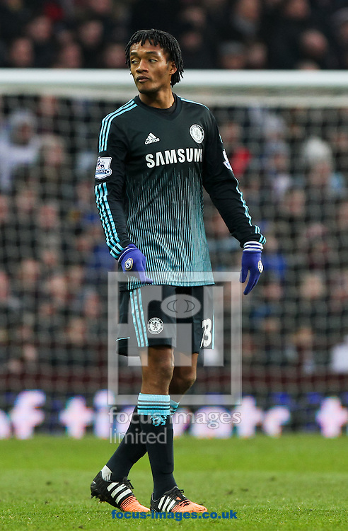 Juan Cuadrado of Chelsea during the Barclays Premier League match at Villa Park, Birmingham<br /> Picture by Tom Smith/Focus Images Ltd 07545141164<br /> 07/02/2015