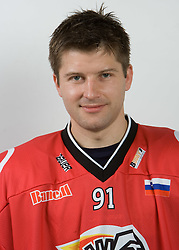 Tomi Hafner at HK Acroni Jesenice Team roaster for 2009-2010 season,  on September 03, 2009, in Arena Podmezaklja, Jesenice, Slovenia.  (Photo by Vid Ponikvar / Sportida)