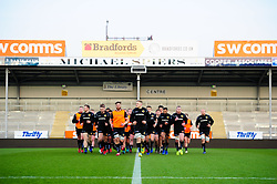 Exeter Chiefs warm up prior to kick off  - Mandatory by-line: Ryan Hiscott/JMP - 01/04/2019 - RUGBY - Sandy Park Stadium - Exeter, England - Exeter Braves v Harlequins - Premiership Rugby Shield