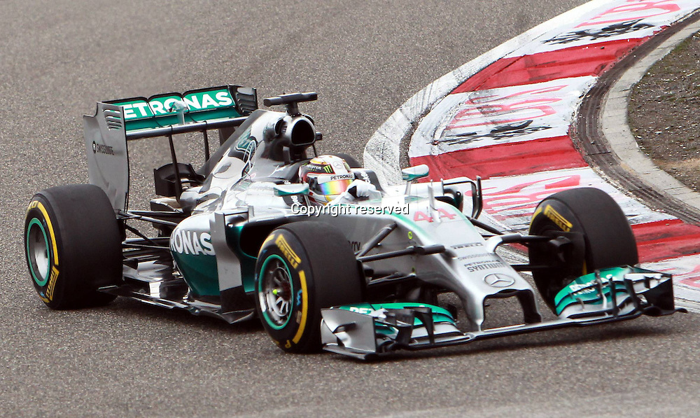20.04.2014. SHanghai, China.  Motorsports: FIA Formula One World Championship 2014, Grand Prix of China, 44 Lewis Hamilton (GBR, Mercedes AMG Petronas F1 Team) on his way to winning the race