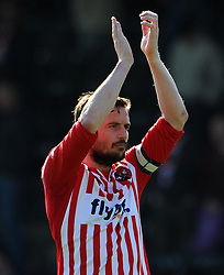 Exeter City's Matt Oakley - Photo mandatory by-line: Harry Trump/JMP - Mobile: 07966 386802 - 18/04/15 - SPORT - FOOTBALL - Sky Bet League Two - Exeter City v Southend United - St James Park, Exeter, England.