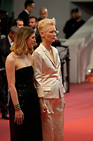 Honor Swinton Byrne and Tilda Swinton at the Parasite gala screening at the 72nd Cannes Film Festival Tuesday 21st May 2019, Cannes, France. Photo credit: Doreen Kennedy